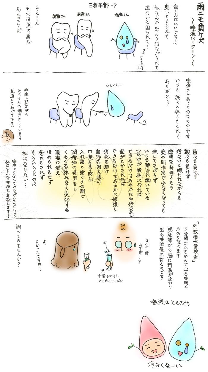 第81話 雨にも負けず ~唾液バージョン~